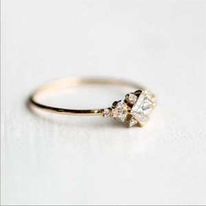 Jewelry - NEW! Gold Cubic Zirconia Vintage Wedding Ring